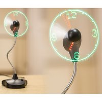 The Source LED Clock Fan with Stand
