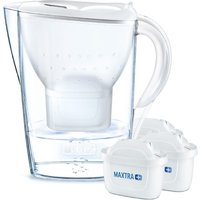 BRITA Marella Water Filter Jug 3 Month Starter Pack - 2.4L White