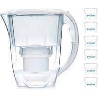 Aqua Optima Oria Water Filter 2.8L Jug with 12 Month Starter Pack - White