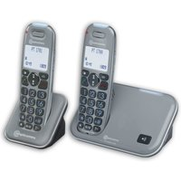 Amplicomms Powertel 1702 Amplified Big Button Cordless Phone - Twin