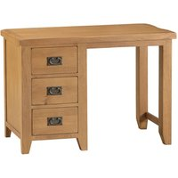 Stockbridge Ready Assembled 3-Drawer Wooden Dressing Table - Oak