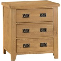 Stockbridge Ready Assembled 3-Drawer Wooden Chest - Oak