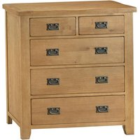 Stockbridge Ready Assembled 5-Drawer Wooden Chest - Oak