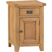 Stockbridge Ready Assembled 1-Drawer 1-Door Small Oak Cupboard
