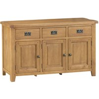 Stockbridge Ready Assembled 3-Drawer 3-Door Oak Sideboard
