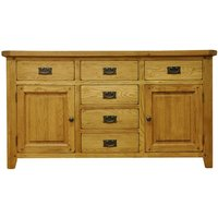 Stockbridge Ready Assembled 2-Door 6-Drawer Oak Sideboard