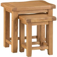 Stockbridge Ready Assembled Large Nest of 2 Oak Tables