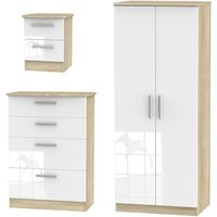 Kirkhill Wardrobe, Chest of Drawers and Bedside Cabinet Set