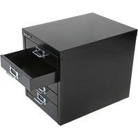 Bisley 5-Drawer Desktop Filing Cabinet - Black