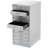 Bisley 10-Drawer Filing Cabinet - Silver