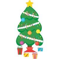 Fine Decor Wall Pops Christmas Tree Wall Sticker
