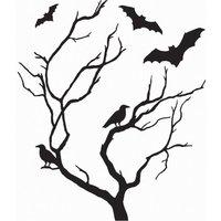 Wall Pops Spooky Tree Halloween Wall Sticker