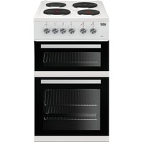 Beko KD532AW Double Oven 91L Electric Cooker - White