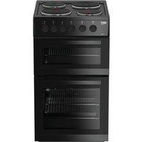Beko KD533AK Double Oven 91L Electric Cooker - Black