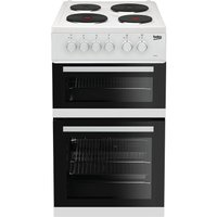 Beko KD533AW Double Oven 91L Electric Cooker - White