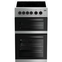 Beko KDC5422AS Double Oven 91L Electric Cooker - Silver