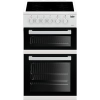 Beko KDC5422AW Double Oven 91L Electric Cooker - White