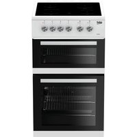 Beko KDVC563AW Double Oven 89L Electric Cooker - White