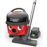 Henry Cordless Cylinder Vacuum Cleaner HVB160 with 2 Batteries - Red
