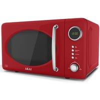 Akai 700W 20L Digital Microwave - Red