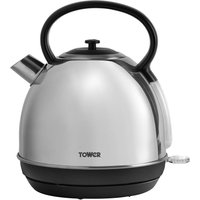 Tower 1.7L Traditional Kettle - Polished Steel