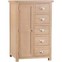 Wisborough Ready Assembled 1-Door 5-Drawer Combi Oak Wardrobe