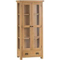 Graceford Ready Assembled 1-Drawer 2-Door Oak Display Cabinet