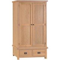 Graceford 2-Door 2-Drawer Wooden Wardrobe