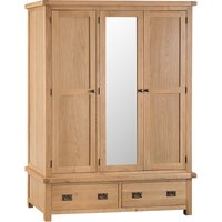 Graceford 3-Door 2-Drawer Wooden Wardrobe
