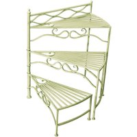 My Botanical Garden Wrought Iron 3-Tier Planter - Green