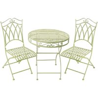 My Botanical Garden Wrought Iron Garden Table & 2 Chairs