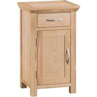 Fenwin Ready Assembled 1-Drawer 1-Door Small Oak Cupboard