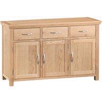 Fenwin Ready Assembled 3-Drawer 3-Door Oak Sideboard
