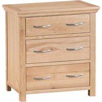 Fenwin Ready Assembled 3-Drawer Wooden Chest - Oak