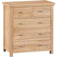 Fenwin Ready Assembled 5-Drawer Wooden Chest - Oak