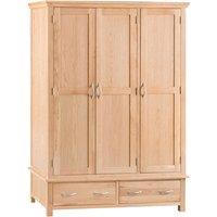 Fenwin 3-Door 2-Drawer Oak Wardrobe