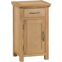 Hindsley Ready Assembled 1-Drawer 1-Door Small Oak Cupboard