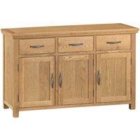 Hindsley Ready Assembled 3-Drawer 3-Door Oak Sideboard