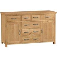 Hindsley Ready Assembled 2-Door 6-Drawer Oak Sideboard