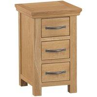 Hindsley Ready Assembled 3-Drawer Bedside Table - Oak