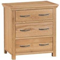 Hindsley Ready Assembled 3-Drawer Wooden Chest - Oak