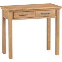 Hindsley 2-Drawer Wooden Dressing Table - Oak