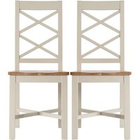 Vivianna Pair of Cross Back Wooden Chairs