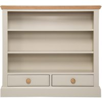 Vivianna Ready Assembled Low Wide Wooden Bookcase
