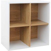 Dannington 4-Cube Shelving Unit - White Oak
