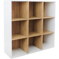 Dannington 9-Cube Shelving Unit - White Oak