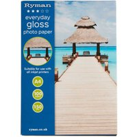 Ryman A4 Everyday Gloss Photo Paper - 100 Sheets
