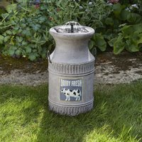 Smart Solar Milk Churn Garden Fountain
