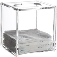 Showerdrape Serene Square Tissue Box - Clear