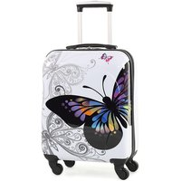 Rock Members Miro-Printed Hardshell Spinner Cabin Case - White